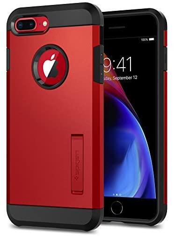 Spigen Tough Armor [2nd Generation] Designed for iPhone 8 Plus Case/iPhone 7 Plus Case (2018) – Red