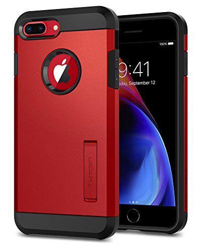 Spigen Tough Armor [2nd Generation] iPhone 8 Plus Case/iPhone 7 Plus Case with Kickstand Air Cushion Technology for Apple iPhone 8 Plus (2017) / iPhone 7 Plus (2016) - Red