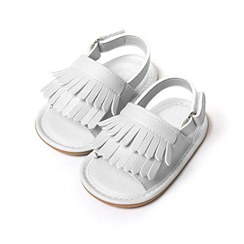 Moresave - Zapatos primeros pasos de Charol para niño blanco