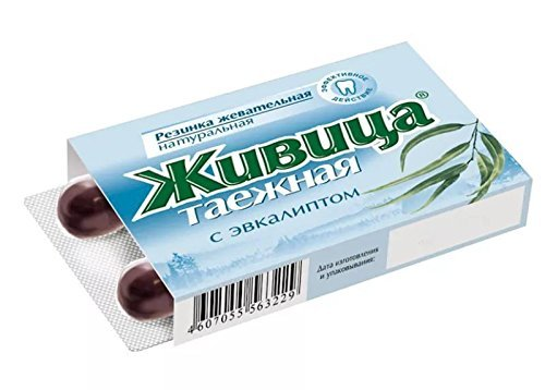 Cedro Siberiano Resina chicle con sabor Eucalipto, natural, 1–50–Ampollas de 5g, 1