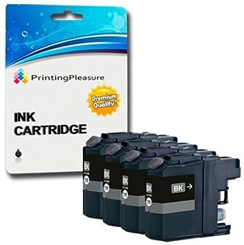 4 NEGRO Cartuchos de tinta compatibles para Brother DCP-J4120DW DCP-J562DW MFC-J4420DW MFC-J4425DW MFC-J4620DW MFC-J480DW MFC-J5320DW MFC-J5620DW ...