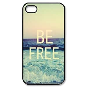 Be Free Personalized Cover Case for Iphone 4,4S,customized phone case ygtg580912