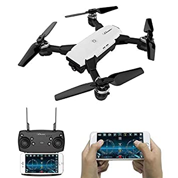 Dron Cuadricóptero RC plegable con cámara de vídeo 2.0 MP 720 p ...