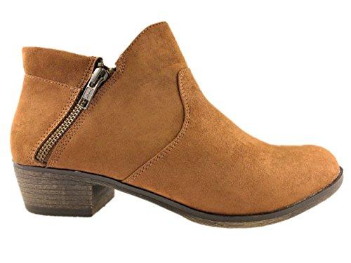 American Rag - Botas de ante para mujer marrón marrón