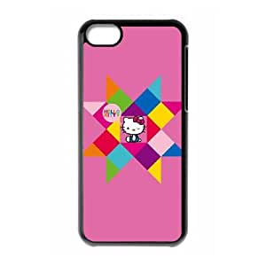 Hello Kitty Geometric iPhone 5c Cell Phone Case Black&Phone Accessory STC_940833