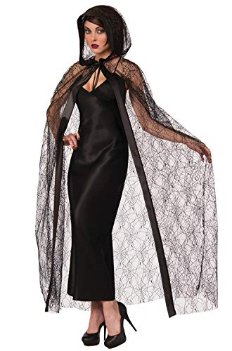 Forum Novelties Sheer Spider Web Hooded Cape