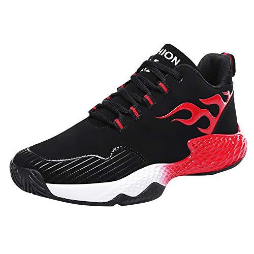 kaifongfu Men's Flat Shoes to Keep Warm Sports Shoe Light Sneakers Shoes(Red,42)