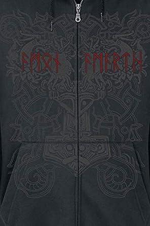 Amon Amarth Viking Horde Kapuzenjacke schwarz