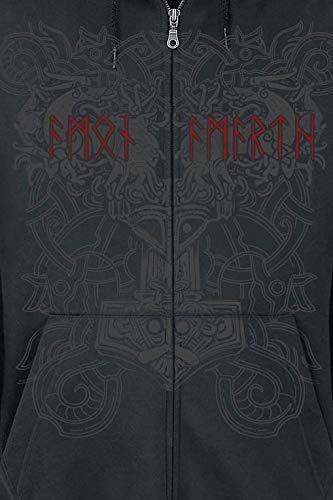 nero cerniera con Felpa Horde Amarth Amazon Viking it Amon HwYq1SPH