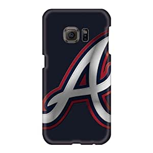 Perfect Hard Cell-phone cases for Happy Christmas and New year For Samsung Galaxy S6 With Customized Lifelike Atlanta Braves Skin EricHowe
