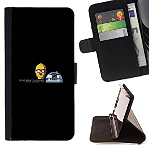 Momo Phone Case / Flip Funda de Cuero Case Cover - Divertidos Droids Robots - Apple Iphone 6