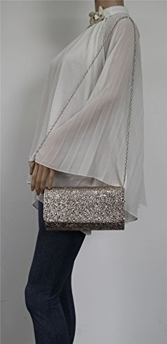 Night SWANKYSWANS Womens Glitter Party Out Aaron Clutch Sequin Bag Prom Gold Champagne xq1CwcUgcR