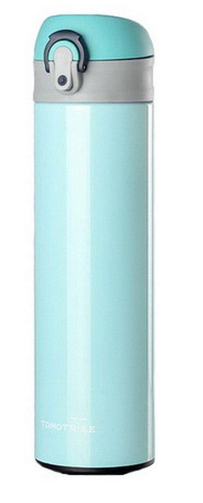 流行 ステンレススチール真空旅行コーヒーマグカップフラスコ魔法瓶Leakproof飲料水ボトル 450ml ブルー 450ml B01MAUUY6W ブルー B01MAUUY6W, co100percent:3ce300e8 --- womaniyya.com