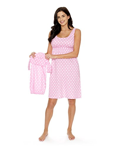 Baby Be Mine Maternity/Nursing Sleeveless Nightgown with Matching Baby Outfit -
