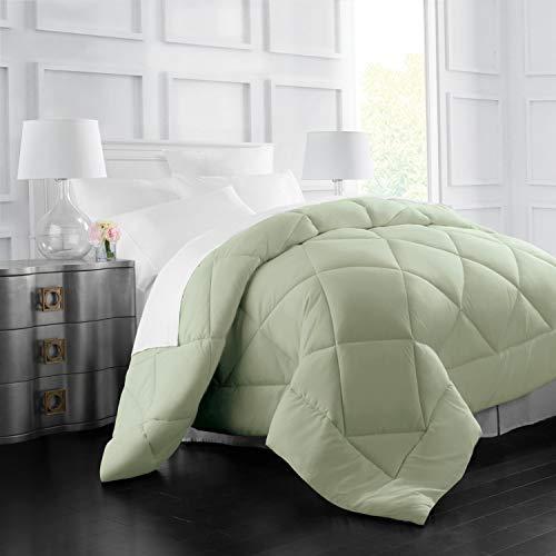 Italian Luxury Goose Down Alternative Comforter - All Season - 2100 Series Hotel Collection - Luxury Hypoallergenic Comforter - King/Cal King - Sage ()