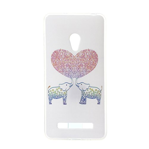 Price comparison product image Cuitan Soft Transparent TPU Case Cover for ASUS ZenFone 5,  Painting Pattern Design Clear Flexible Back Cover Case / Protective Cover / Phone Case Shell Skin for ASUS ZenFone 5 - Elephants
