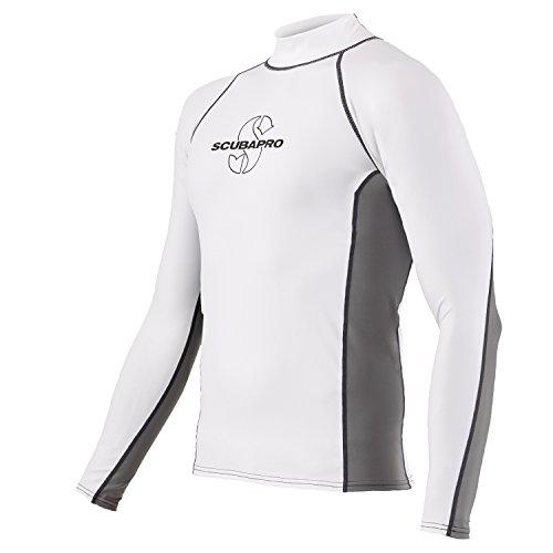 SCUBAPRO T Flex Long Sleeves Rash Guard Men White / Gray XL by ScubaPro