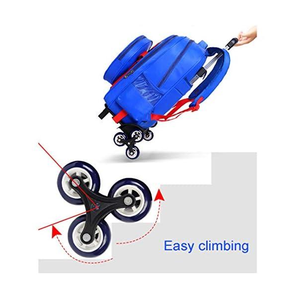 MODRYER per Bambini Zaino Spiderman Scuola elementare Impermeabile Zaino Trolley Studenti Piede Alto 6 Ruote Daypack Mud… 4 spesavip