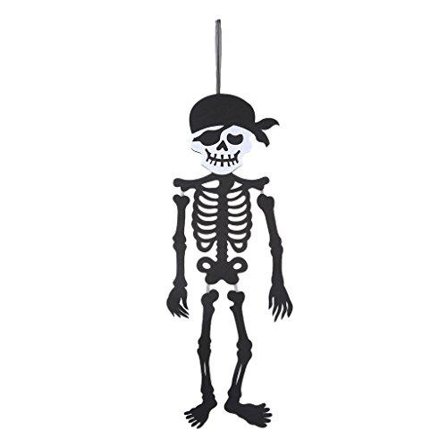 Feamos Halloween Hanging Banner Skeleton Wall Decor Pendant