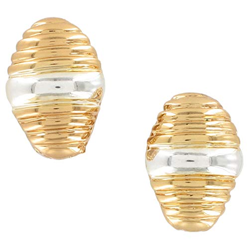 - Two Tone Gold Silver Tone Magnetic Clip Earrings For Women Set