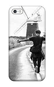 Megan S Deitz's Shop New Style High-quality Durable Protection Case For Iphone 5/5s(black And White Photography Of Girl Boy Roaming On Roads)