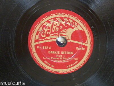 78rpm GENE ESSEN & CHICAGO VELLUM BOYS darkie ditties - Boy Vellum