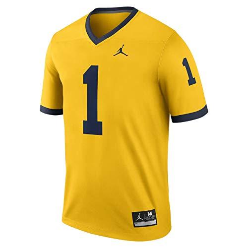 Nike Big Kids Michigan Wolverines Alternate Youth Game Jersey (Size: Medium) Maize Blue ()