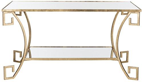 Safavieh Home Collection Yasemeen Gold Greek Key Table (Coffee Table Mediterranean)