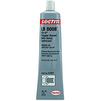 Loctite 51001 C5-A Copper Based Anti-Seize Lubricant, 1 oz. Tube