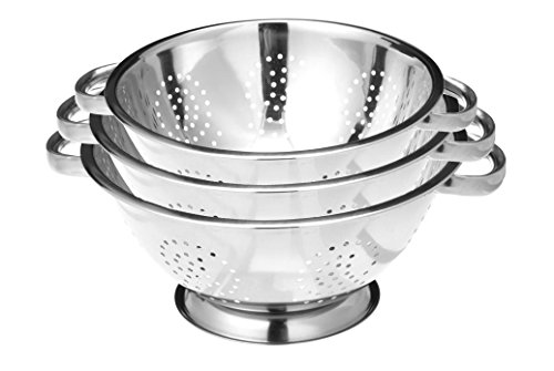 (Stainless Steel Colander Strainer Set of 3)