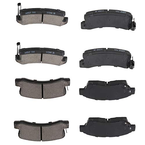 SCITOO 8pcs Front Rear Ceramic Brake Pads fit for 1992 1993 1994 1995 1996 1997 1998 1999 Toyota Camry
