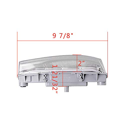 1 Pair of Left Right LED Daytime Running Lights DRL Fog Lamp Compatible with Mercedes W204 S204 C180 C200 C220 C230 C250 C280 C300 C320 C350 07-14