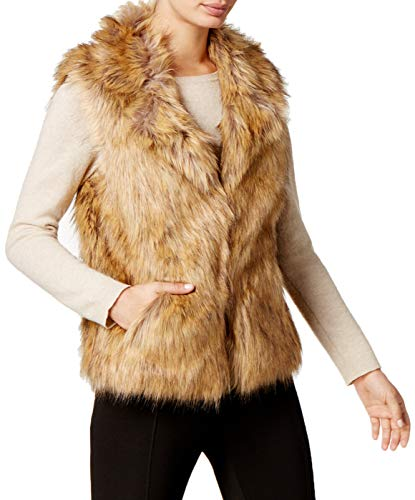 INC International Concepts I.n.c. Knit & Faux Fur Vest Small/Medium (Brown)