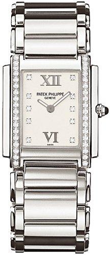 Watch 20 Diamonds Womens (Patek Philippe Twenty 4 Diamond Ladies Watch - 4910/10A-011)