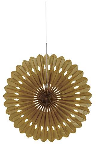 16 Gold Tissue Paper Fan Decoration