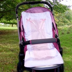 Sweet Ribbon Stroller Liner - Color: Ecru