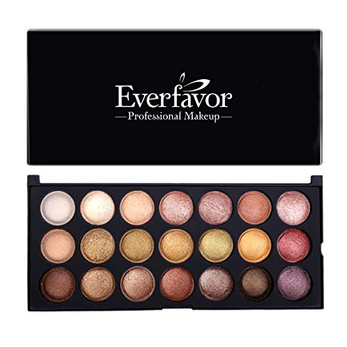 36ae427069cc Eyeshadow Palette Makeup, Everfavor Pigmented Eye Shadow Nude Palettes -  Professional 21 Colors Shimmer Warm Neutral Smoky Cosmetic Baked Eye  Shadows ...