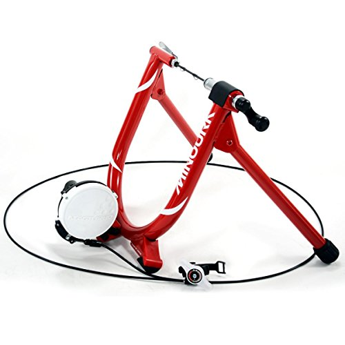 Minoura MagRide Bicycle Trainer with Remote, Red