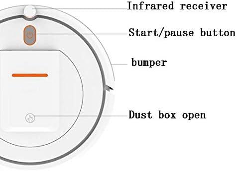 XJZKA Aspirateur de Balayage Intelligent télécommandé, aspirateur Trois en Un 800 Pa adapté au Nettoyage des sols en Moquette en Poils d\'animaux