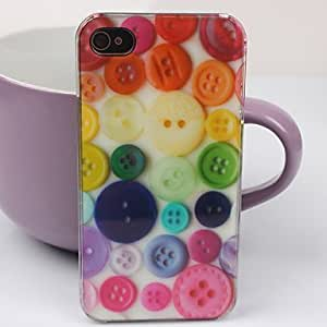 GOG- Beautiful button Pattern PC Back Case for iPhone 4/4S