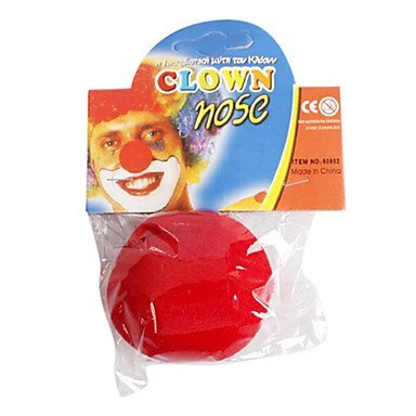 Han Red Sponge Clown Makeup Nose for Halloween Costume Party by Han