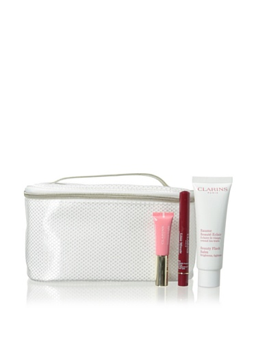 Collection Clarins (Clarins Radiant Essentials Beauty Flash Balm 3-Piece Collection with Case)