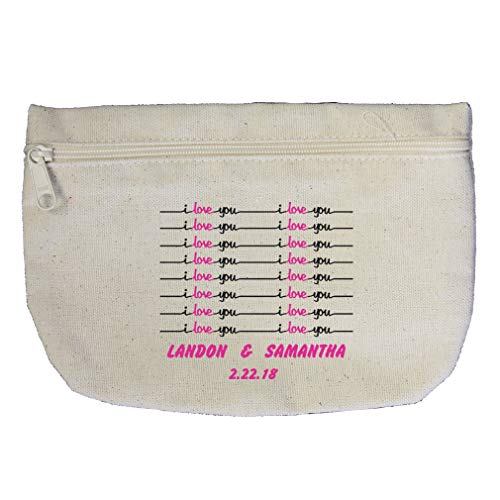 Lab Worksheets (Personalized Custom love you handwriting worksheet Cotton Canvas Makeup Bag)