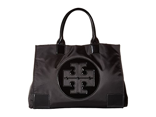 (Tory Burch Womens Black Nylon Ella Mini Tote Bag 45207-001 )