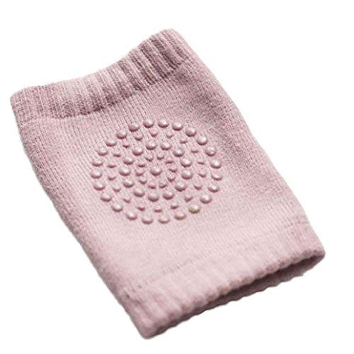 Voberry Baby Crawling Anti-Slip Knee Compression Sleeve Unisex Kneecap (Pink)