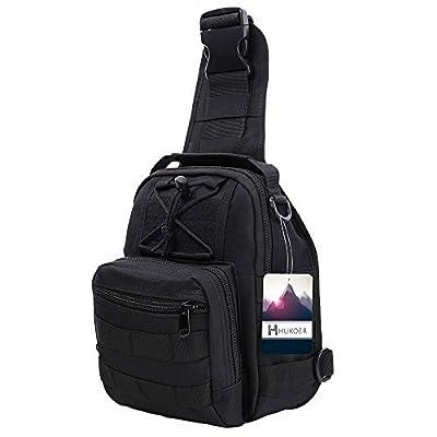 HUKOER Sling Bag Oxford Fabric Crossbody Bag Shoulder One Strap Backpack Men's Multipurpose Daypack for Camping, Hiking,Trekking, Rover,Cycling, Hiking,Travel