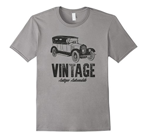 Mens Old Vintage Automobile Collection Model T T-Shirt XL Slate -