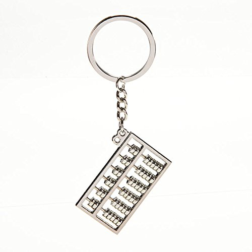 cat1986cat1986 Chinese Ancient Account Calculator 6 Row Abacus Key Chain (Row Abacus)