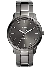 Men's 'The Minimalist 3H' Quartz Stainless-Steel-Plated Casual Watch, Color:Grey (Model: FS5459)