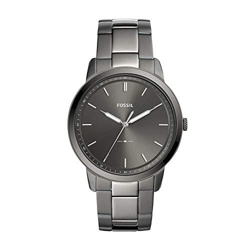 Fossil Men's The The Minimalist 3H Quartz Stainless-Steel-Plated Strap, Grey, 22 Casual Watch (Model: ()